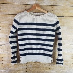 Madewell Womens Striped Wool Blend XS Extra Small